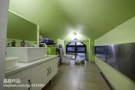 精美51平美式复式卫生间装修美图餐厅