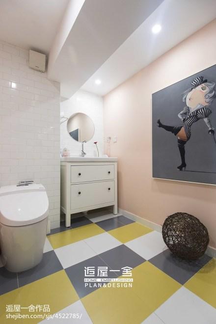 优雅65平欧式复式卫生间图片大全
