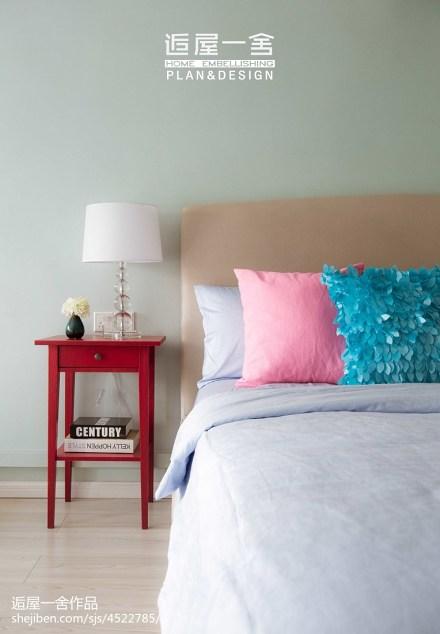 简洁71平欧式复式卧室效果图卧室