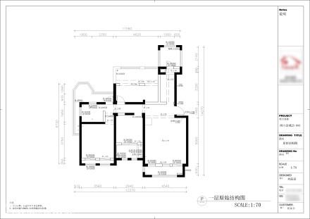 精美62平美式复式客厅实拍图