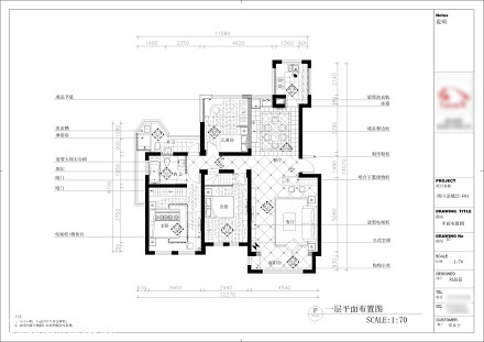 优雅40平美式复式客厅设计效果图