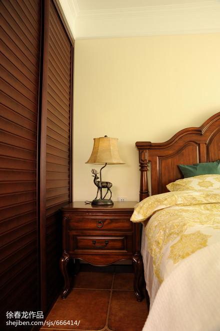 精选二居卧室美式装修设计效果图卧室