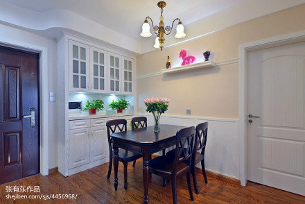 典雅88平美式二居餐厅设计图厨房