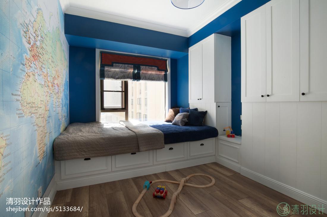 混搭风格儿童房窗台设计效果图卧室潮流混搭卧室设计图片赏析