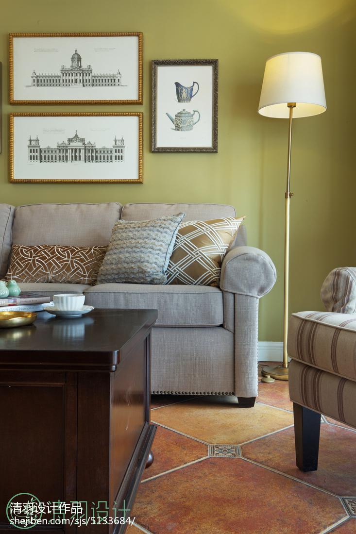 温馨105平混搭四居客厅装饰美图客厅