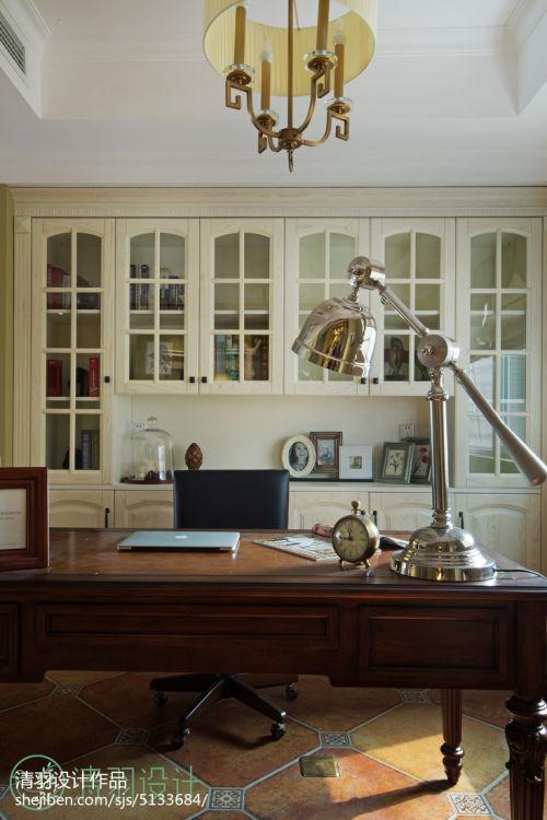 华丽133平混搭四居装饰美图功能区书柜