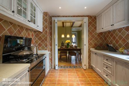 面积129平混搭四居厨房装修效果图餐厅