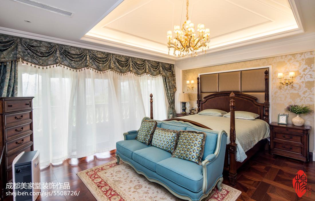2018精选144平米新古典别墅卧室装修设计效果图卧室美式经典卧室设计图片赏析
