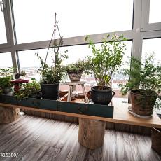 热门73平米混搭小户型阳台装修实景图片欣赏