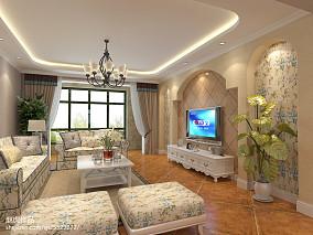 热门137平米四居客厅田园欣赏图片大全