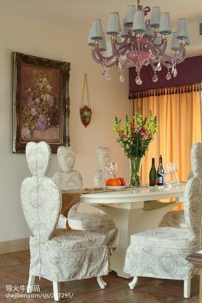 热门面积128平别墅餐厅新古典设计效果图