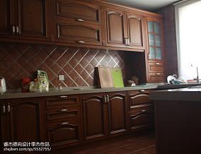 精美面积112平别墅厨房美式欣赏图片大全