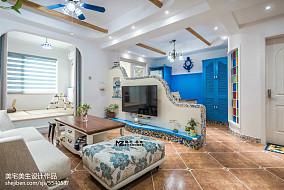 精美复式客厅地中海设计效果图