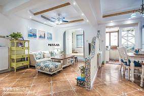 2018复式客厅地中海装修效果图片欣赏