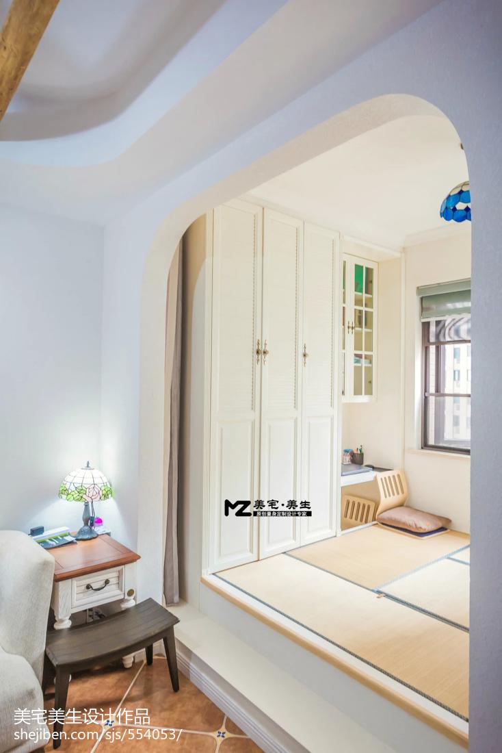 地中海风格窗台榻榻米装修图片卧室2图地中海卧室设计图片赏析