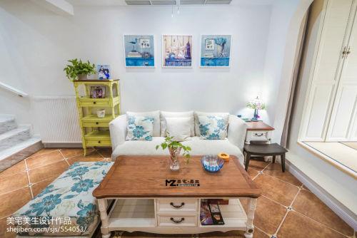 热门143平米地中海复式客厅装修图片客厅沙发81-100m²复式家装装修案例效果图
