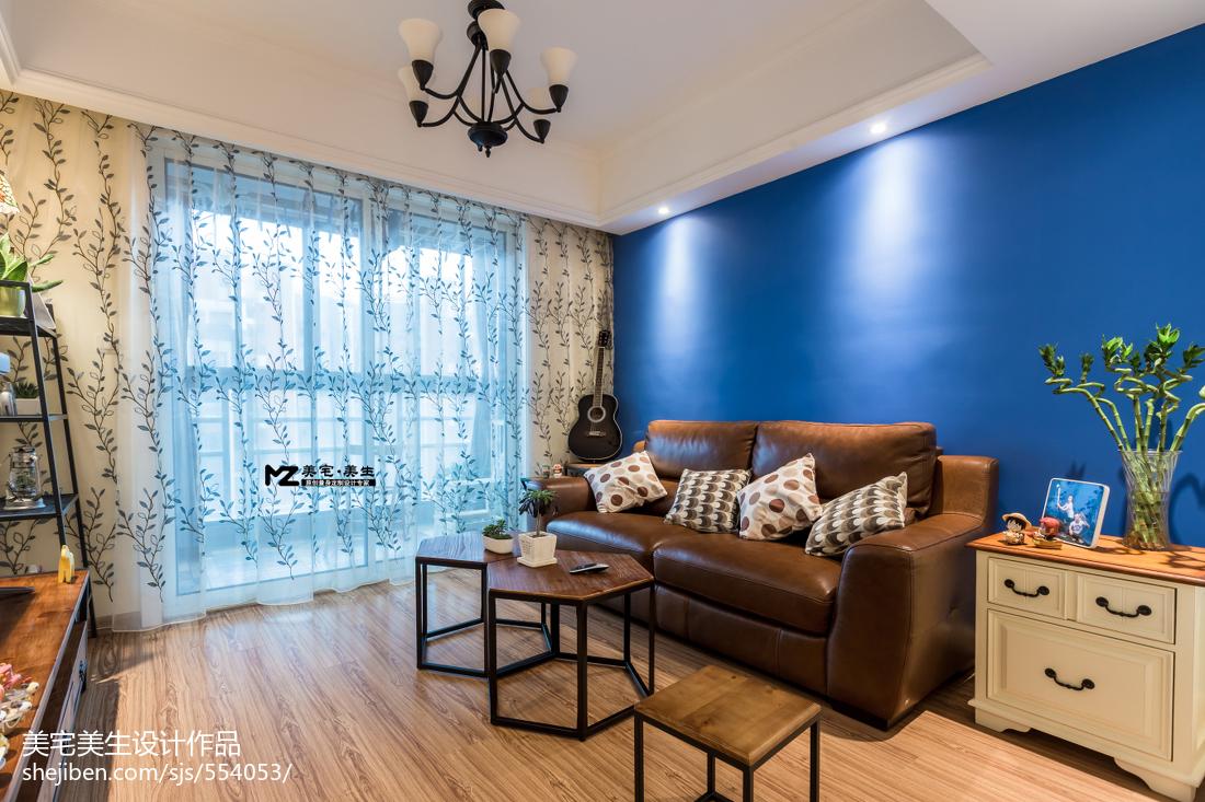 精美大小84平混搭二居客厅效果图片大全61-80m²二居潮流混搭家装装修案例效果图