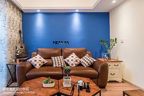 2018大小81平混搭二居客厅装修欣赏图片大全61-80m²二居潮流混搭家装装修案例效果图