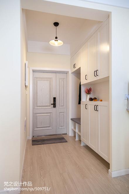 三居室混搭风格玄关鞋柜设计效果图玄关