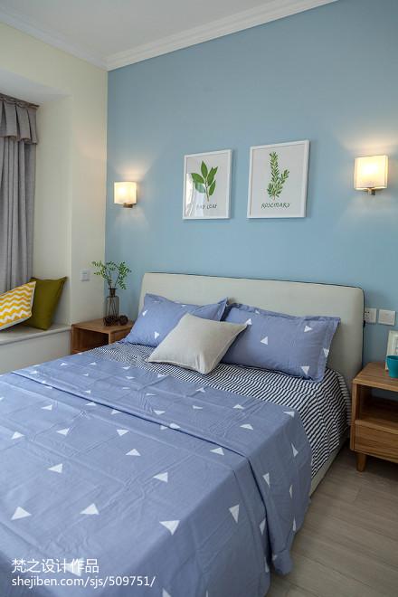 三居室混搭风格卧室背景墙效果图卧室