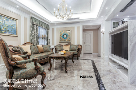 精选88平米二居客厅欧式设计效果图客厅