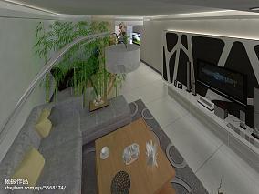 精选大小90平现代二居客厅装修图