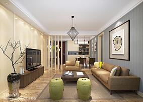 精选93平方三居客厅现代实景图片欣赏
