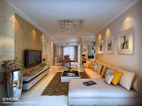 精美79平米现代小户型客厅装饰图片大全