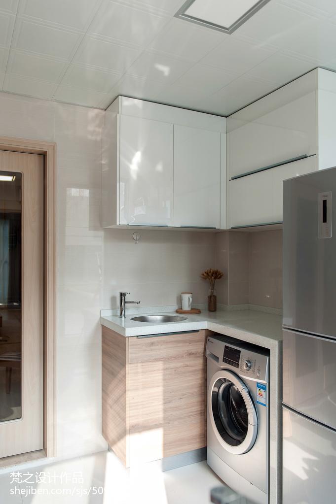 平米三居厨房中式欣赏图片大全餐厅中式现代厨房设计图片赏析