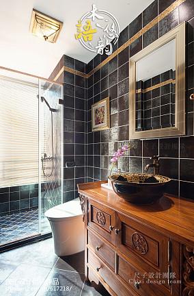中式古典浴室柜