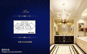 精美137平米新古典别墅卫生间装修设计效果图片欣赏
