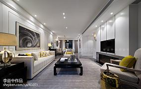 现代风格客厅壁画装饰效果图片样板间现代简约家装装修案例效果图