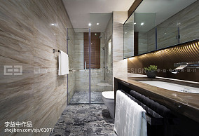 现代风格浴室设计效果图片样板间现代简约家装装修案例效果图