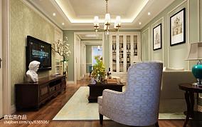 2018137平米美式复式客厅装修欣赏图片大全