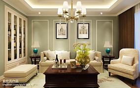 精选面积133平复式客厅美式装修效果图片大全