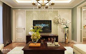 2018美式复式客厅装修欣赏图复式美式经典家装装修案例效果图