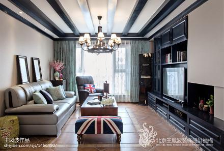 热门大小72平混搭二居客厅装修实景图101-120m²二居潮流混搭家装装修案例效果图