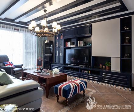 热门88平混搭二居装修设计效果图片欣赏