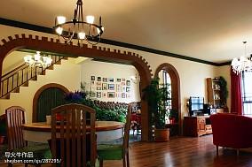 热门面积96平田园三居餐厅装修实景图片欣赏