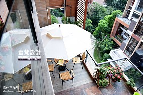 面积129平别墅阳台混搭装修设计效果图片欣赏