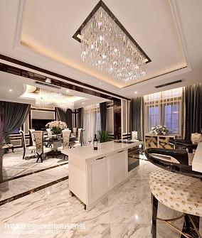 精美130平米混搭别墅厨房装修欣赏图别墅豪宅潮流混搭家装装修案例效果图