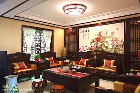 2018精选110平米中式复式客厅装修图