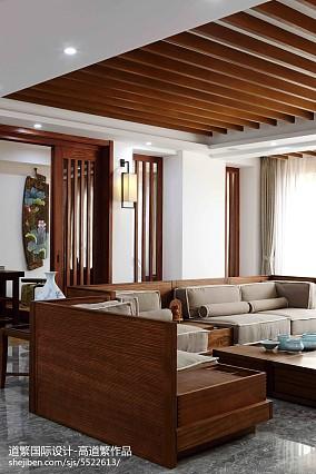 热门东南亚四居客厅装修实景图片大全