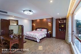 别墅豪宅中式卧室吊顶效果图