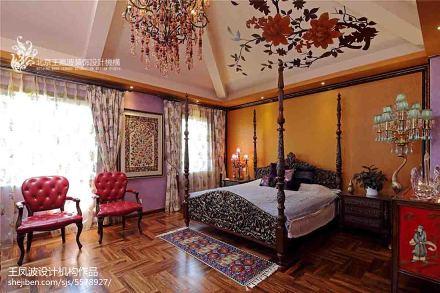热门面积124平别墅卧室混搭装修欣赏图片大全卧室