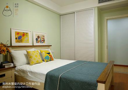 精美82平米美式小户型卧室装饰图