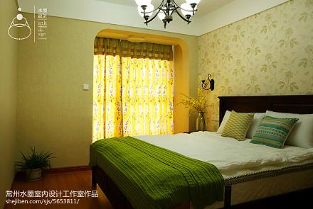 2018精选76平米美式小户型卧室装修图片
