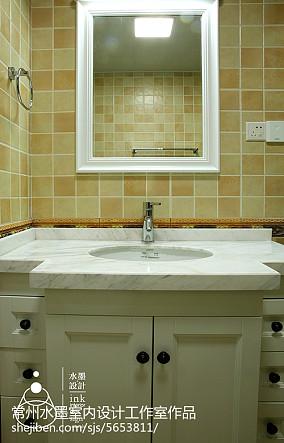 精选面积76平小户型卫生间美式设计效果图卫生间1图设计图片赏析