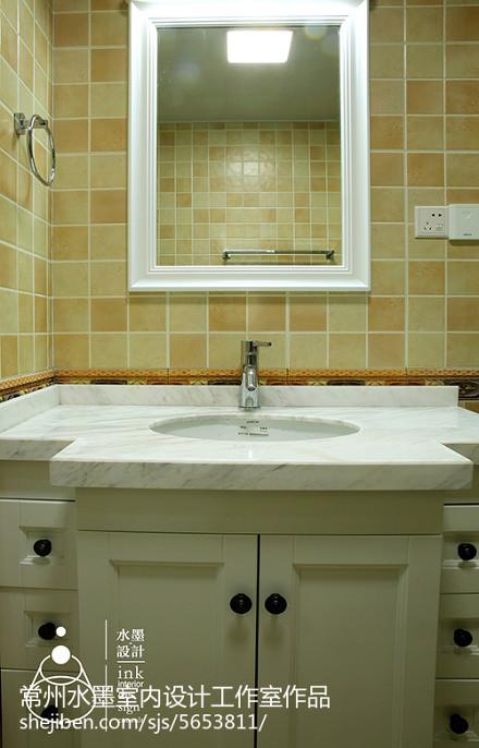 精选面积76平小户型卫生间美式设计效果图卫生间1图