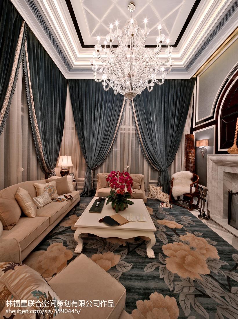 精美121平方混搭别墅客厅装修实景图片欣赏客厅